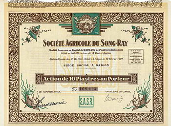 Soc. Agricole du Song-Ray S.A.
