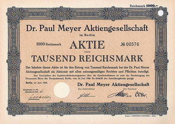 Dr. Paul Meyer AG