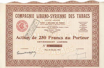 Cie. Libano-Syrienne des Tabacs S.A.