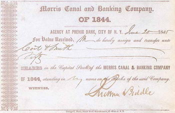 Morris Canal & Banking Co. of 1844