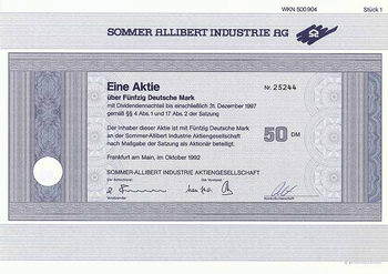 Sommer-Allibert Industrie AG