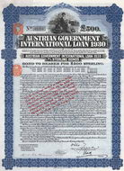 Austrian Government International Loan 1930